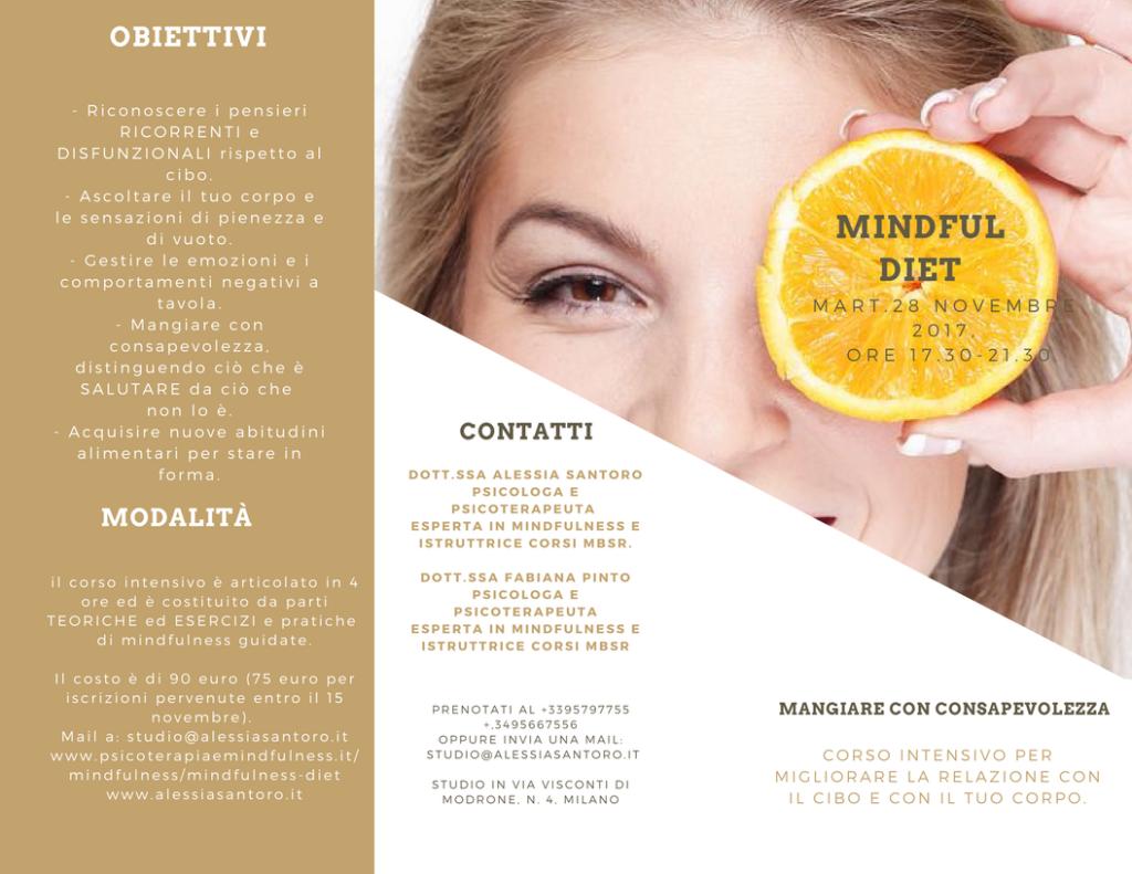 Mangiare con consapevolezza, Mindful diet a Milano
